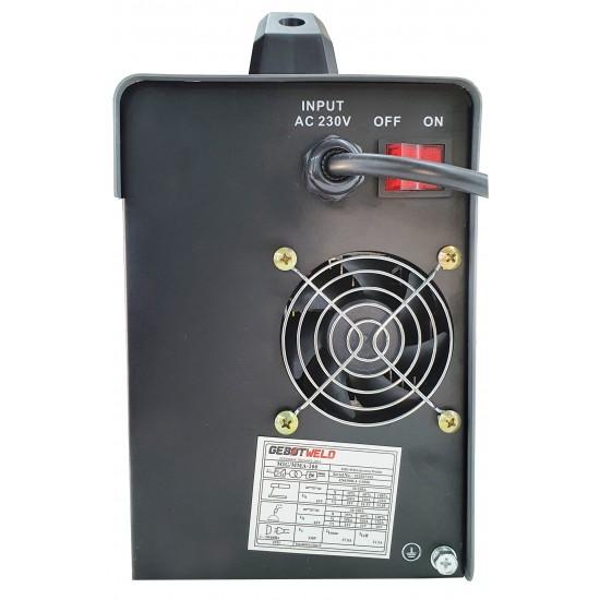 Invertora metināšanas pusautomāts  2 in 1 MIG+MMA 200A, 230V IGBT, NO GAS (GET003)